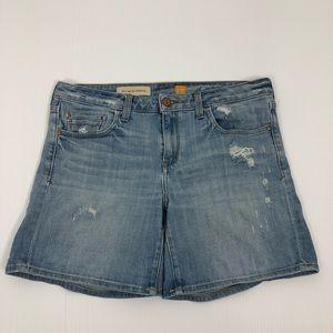 Anthropologie Pilcro Stet Distressed Denim Shorts